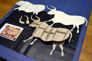 drawing and cut-out