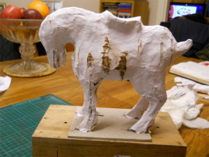 Chinese jade horse tony henderson for Finishing paper mache