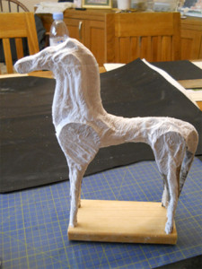 first layer of papier-mache