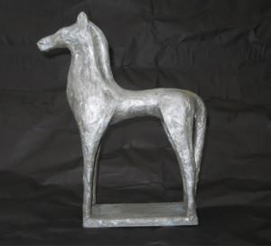 finished bronze horse