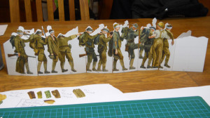 soldiers cut out