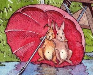 sheltering rabbits
