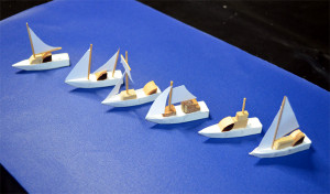 boats in line