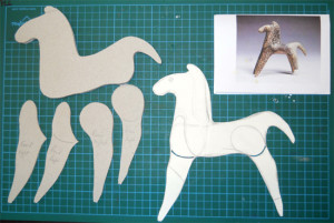 original, drawing & cut-out parts