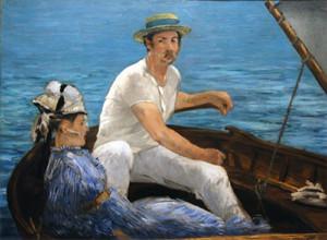 man & woman on boat