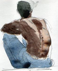 bare back
