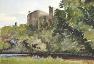 Cockermouth Castle watercolour