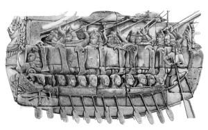 warrior boat drawing 2